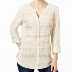 Styler Co. Embroidered Shirt